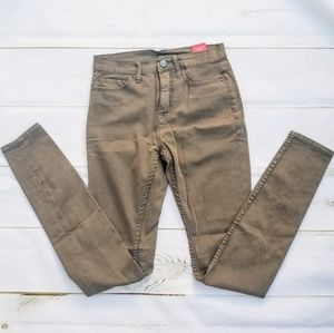 Urban Outfitters High Rise Olive Khaki Skinny Jean